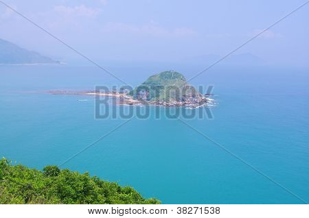 Mini island locate at seaside of Hongkong