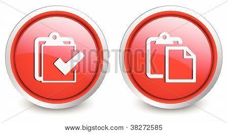 2 popular buttons - red checklist