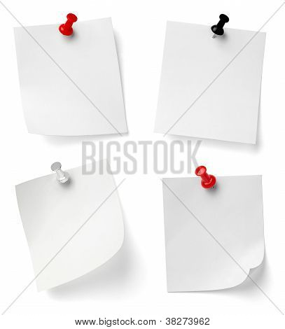 Push Pin And Note Paper Office Business