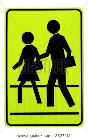 Road Sign. Pedestrians.