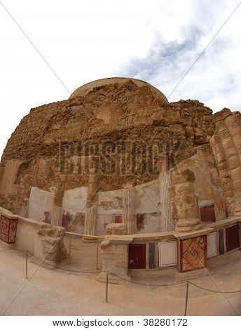 Masada fortress and king Herod's palace