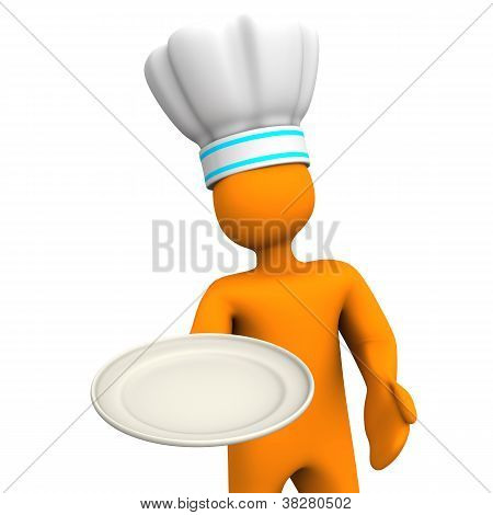 Chef With Plate 2