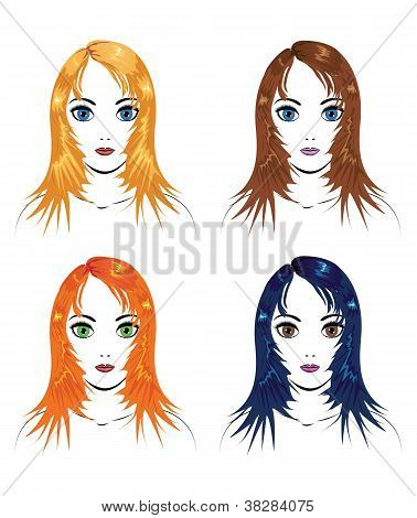 Girls With Different Hair Colors