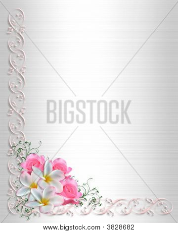 Wedding Invitation White Satin Corner Design
