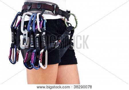 Mountaneer With Climbing Equipment