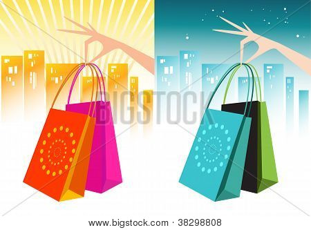 Shopping Bags with Hands