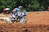 Cornering Motocross Motorcycle