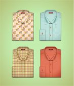 stock photo of button down shirt  - Vector set of colorful men - JPG