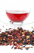 Herbal Tea Isolated On White poster