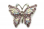 pic of brooch  - Butterfly brooch on white a background close - JPG
