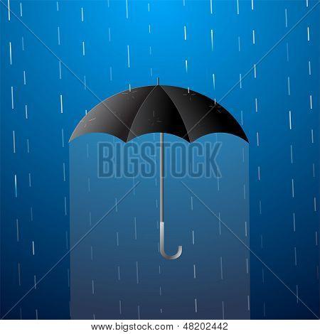Umbrella Cartoon Illustration