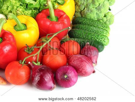 Fresh vegetables close up