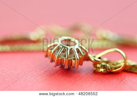 Pendent on golden chain