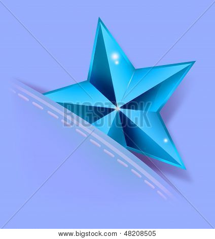 Blue Rating Star on a Pocket