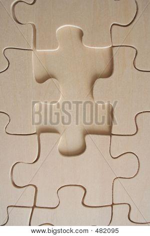 Wooden Jigsaw Pattern