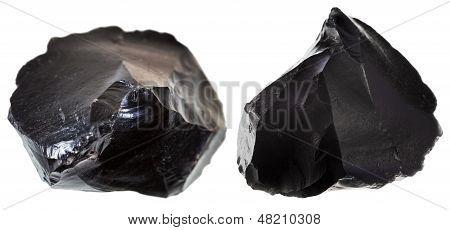 Set Of Black Obsidians