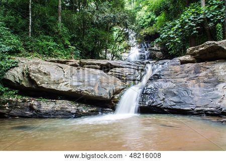 Tad Mork Water Fall In Maerim , Chiangmai Thailand