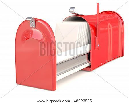 Mail Box Red. 3D Model