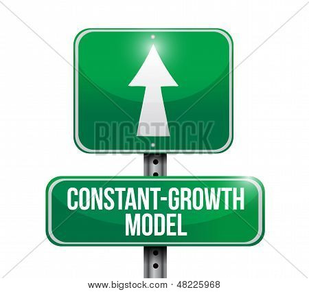 Constant Growth Model Road Sign Illustrations