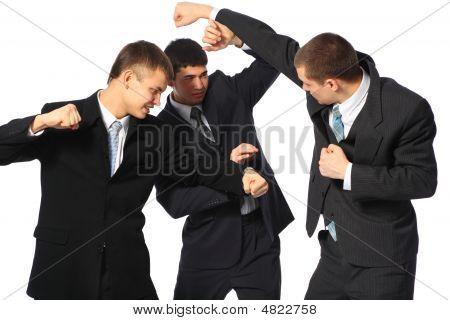 Three Fighting Businessmen