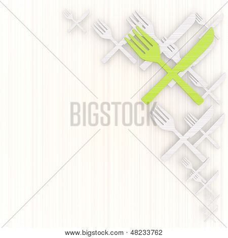 3D Render Of A Decorative Restaurant Background With Pictogram