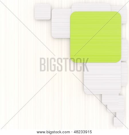 3D Graphic Of A Designed Rectangle Background With Pictogram