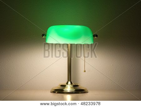 Green Bankers Lamp