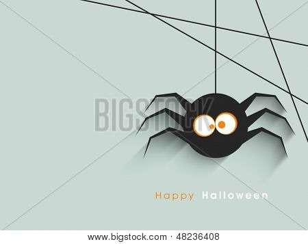 Cute spider on abstract background.
