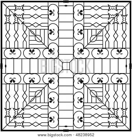 Wrought Iron Square Grill design