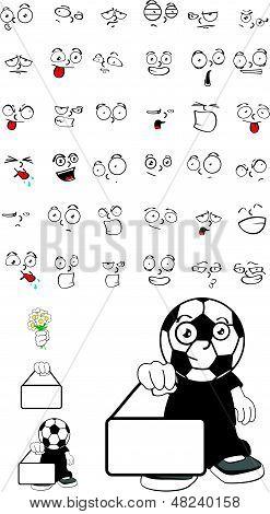 soccer kid cartoon set4