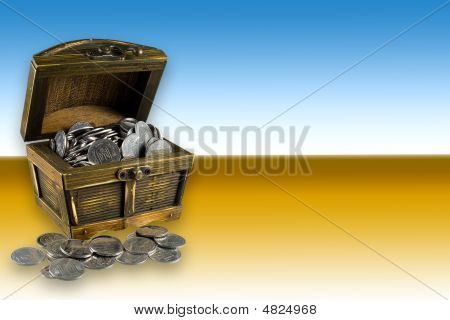Chest With Coins