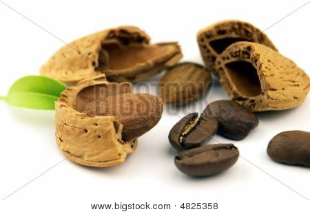 Coffee Beans And Almond