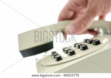 Hanging Up A Telephone Handset