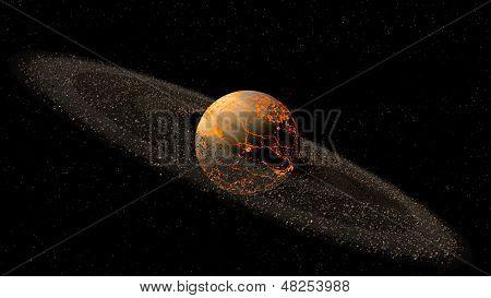 Saturn like planet