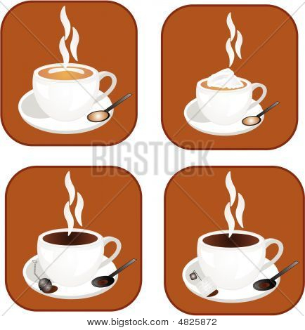 Coffee, Tea Or Hot Chocolate Hot Drinks