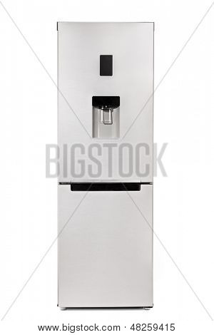 Studio shot of a fridge isolated on white background