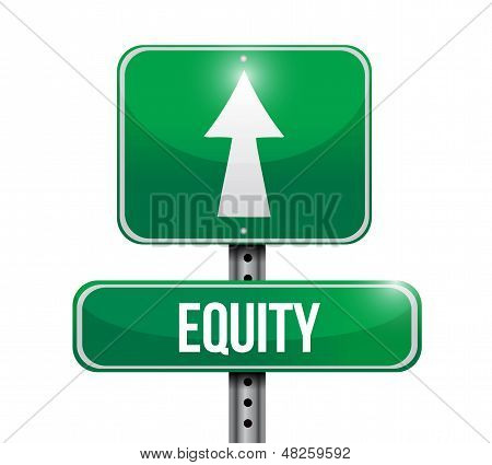 Equity Road Sign Illustration Design
