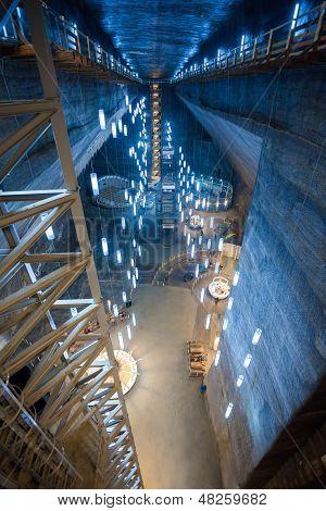 Inside Turda Salt Mine