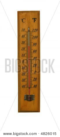 Old Thermometer Measuring In Celsius And Fahrenheit