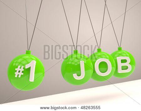 Job Concept. Balancing Balls Newton's Cradle