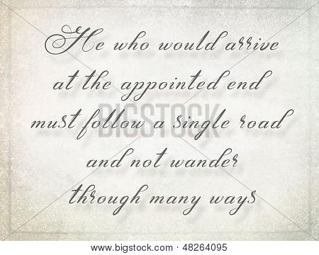 inspirational motivating quote from Publilius Seneca