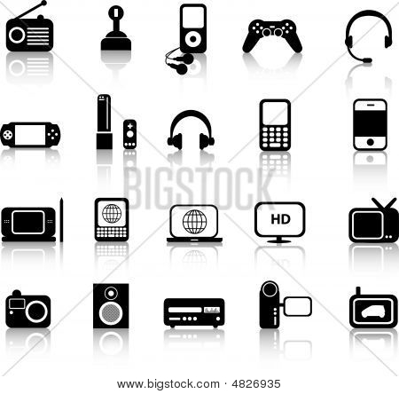 Electronics Silhouettes