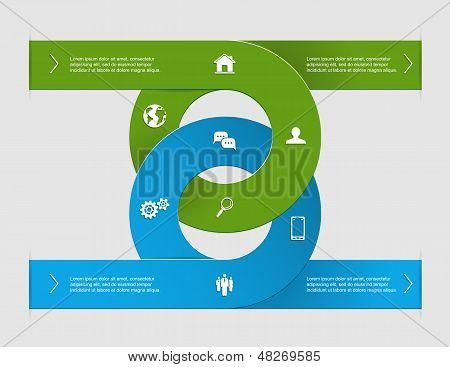 Infografía del círculo