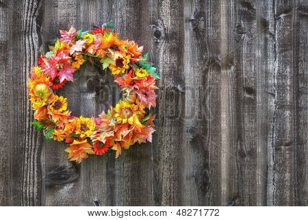 Autumn flower wreath