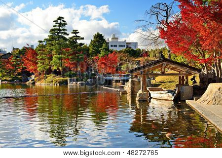 Fall foliage at  in Nagoya, Japan.
