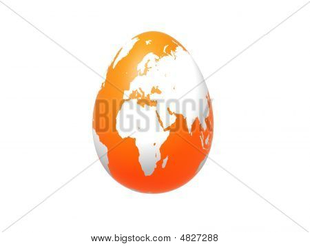 Egg World In Orange  Europe  Africa  Asia