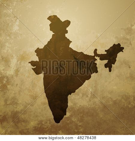 vector indian map design illustration