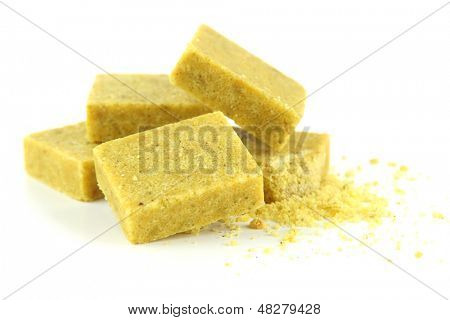 Bouillon cubes, isolated on white