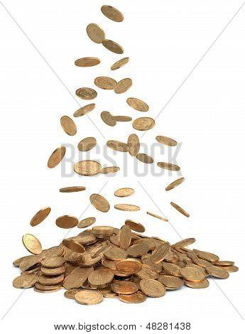 Heap Of Dollar Coins