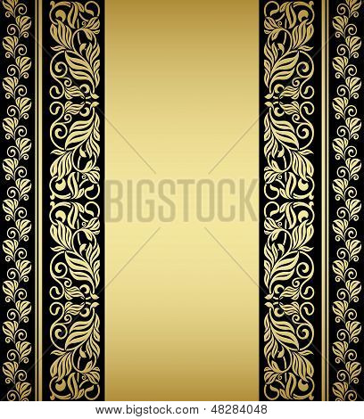 Gilded floral elements and patterns